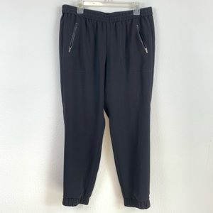 J. Crew Black Jogger Pants Womens 12 Zip Pockets